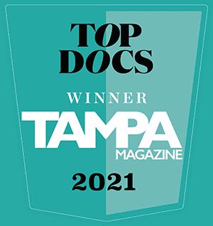 Top Docs - Winner - Tampa Magazine - 2021